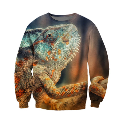 3D All Over Printed Chameleon T Shirt Hoodie 171207
