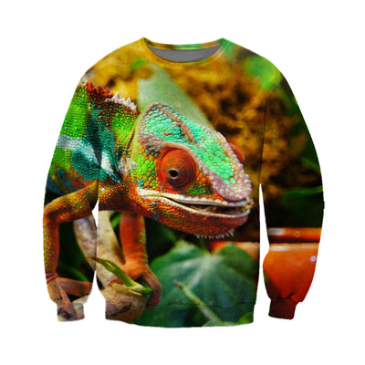 3D All Over Printed Chameleon T Shirt Hoodie 1712010