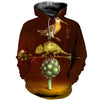 3D All Over Printed Chameleon T Shirt Hoodie 1712012
