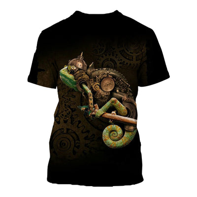 3D All Over Printed Chameleon T Shirt Hoodie 1712015