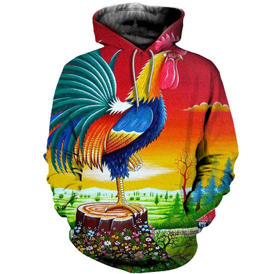 3D All Over Printed Chicken T Shirt Hoodie 4120199