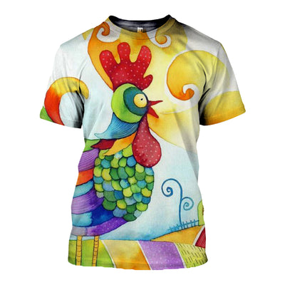 3D All Over Printed Chicken T Shirt Hoodie 41201912