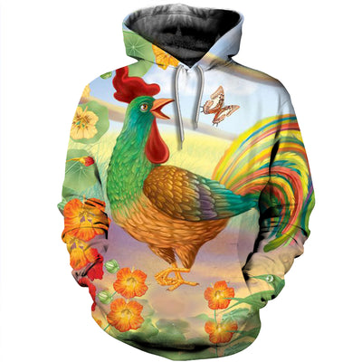 3D All Over Printed Chicken T Shirt Hoodie 41201916