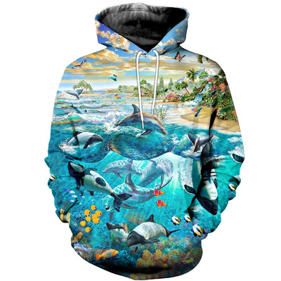 3D All Over Printed Dolphin Clothes 1130