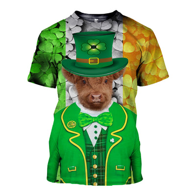 3D All Over Printed Highland Cattle Patrick T Shirt Hoodie 2222019