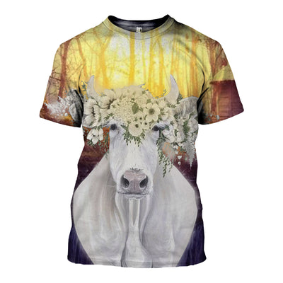 3D All Over Printed Cow T Shirt Hoodie 21120910