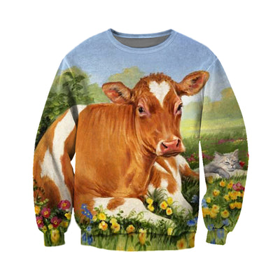 3D All Over Printed Cow T Shirt Hoodie 21120911