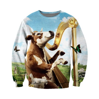 3D All Over Printed Cow T Shirt Hoodie 21120914