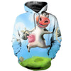 3D All Over Printed Cow T Shirt Hoodie 21120915