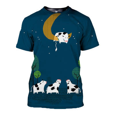 3D All Over Printed Cow T Shirt Hoodie 21120916