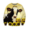 3D All Over Printed Cow T Shirt Hoodie 2112094