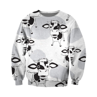 3D All Over Printed Cow T Shirt Hoodie 2112095