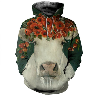 3D All Over Printed Cow T Shirt Hoodie 2112096