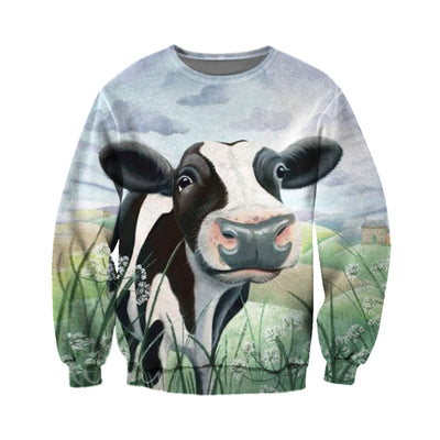 3D All Over Printed Cow T Shirt Hoodie 2112098