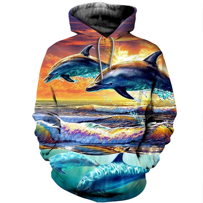 3D All Over Printed Dolphin T Shirt Hoodie 12135