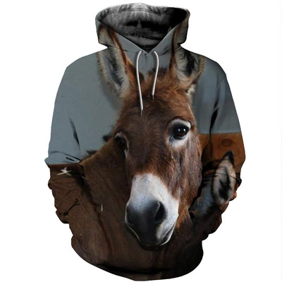3D All Over Printed Donkey T Shirt Hoodie 2412