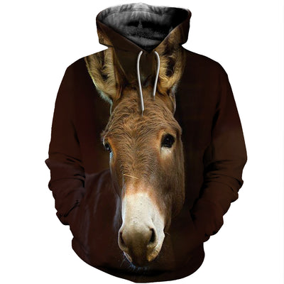 3D All Over Printed Donkey T Shirt Hoodie 24121