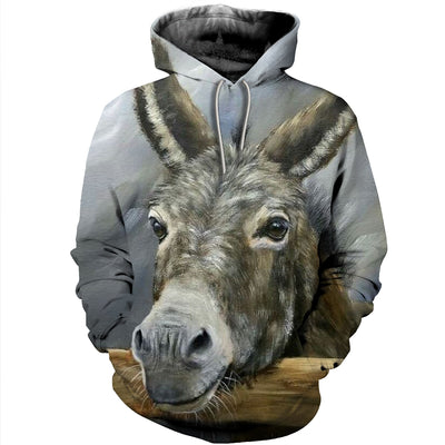 3D All Over Printed Donkey T Shirt Hoodie 241210