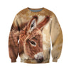3D All Over Printed Donkey T Shirt Hoodie 241211