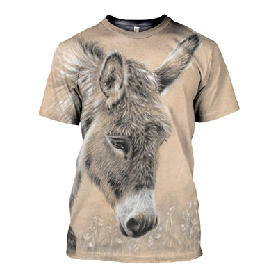 3D All Over Printed Donkey T Shirt Hoodie 24124