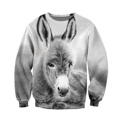 3D All Over Printed Donkey T Shirt Hoodie 24125