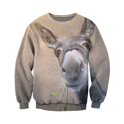3D All Over Printed Donkey T Shirt Hoodie 24127