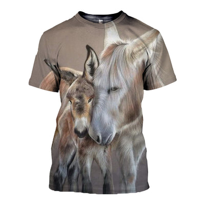 3D All Over Printed Donkey T Shirt Hoodie 24128