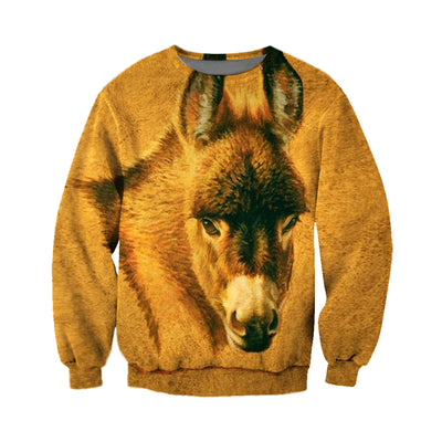 3D All Over Printed Donkey T Shirt Hoodie 24129