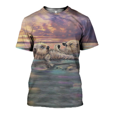 3D All Over Printed Otter Clothes 123
