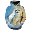 All Over Printed Owl Hoodie 1213