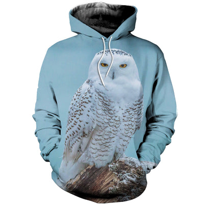 3D All Over Printed Owl Hoodie 1215