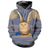 3D All Over Printed Owl Hoodie 1216