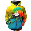 All Over Printed Parrot Hoodie 1212