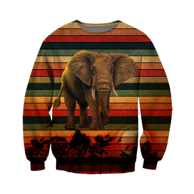 3D All Over Printed Vintage Elephant T Shirt Hoodie 2522019