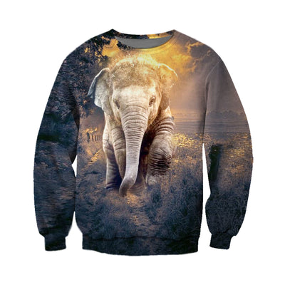 3D All Over Printed elephant T Shirt Hoodie 14121