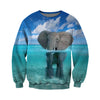 3D All Over Printed elephant T Shirt Hoodie 14122