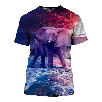 3D All Over Printed elephant T Shirt Hoodie 14123
