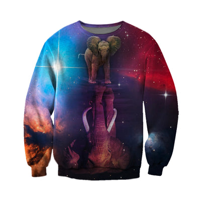 3D All Over Printed elephant T Shirt Hoodie 15121