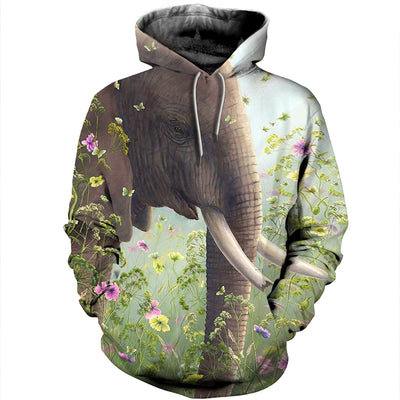 3D All Over Printed elephant T Shirt Hoodie 15122