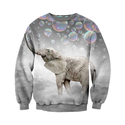 3D All Over Printed elephant T Shirt Hoodie 15123