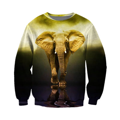 3D All Over Printed elephant T Shirt Hoodie 15126