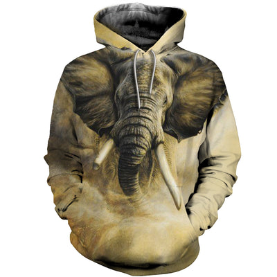 3D All Over Printed elephant T Shirt Hoodie 15128
