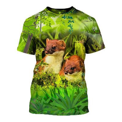 3D All Over Printed Ferret T Shirt Hoodie 181203