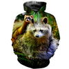 3D All Over Printed Ferret T Shirt Hoodie 181206