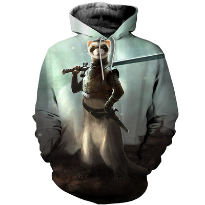 3D All Over Printed Ferret T Shirt Hoodie 181209
