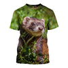 3D All Over Printed Ferret T Shirt Hoodie 1812011
