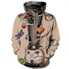 3D All Over Printed Ferret T Shirt Hoodie 1812014