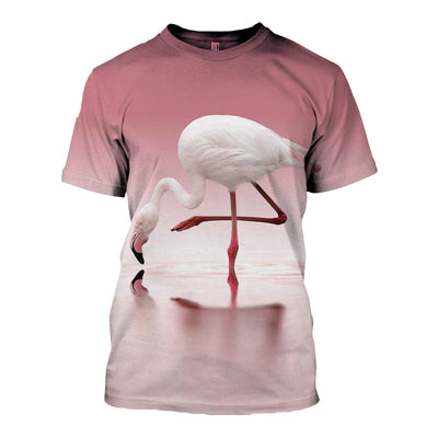 3D All Over Printed Flamingo T Shirt Hoodie 201202