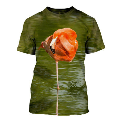 3D All Over Printed Flamingo T Shirt Hoodie 201207