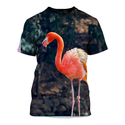 3D All Over Printed Flamingo T Shirt Hoodie 2012011